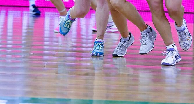 netball, ASICS shoes, running, Photo: Simon Leonard