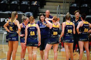 Sunshine Coast Lightning team huddle