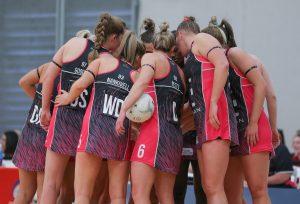 Adelaide Thunderbirds huddle at preseason